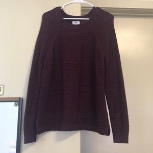 Knitted maroon Old Navy sweater